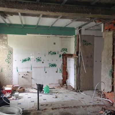 Antes da remodelação de uma cozinha