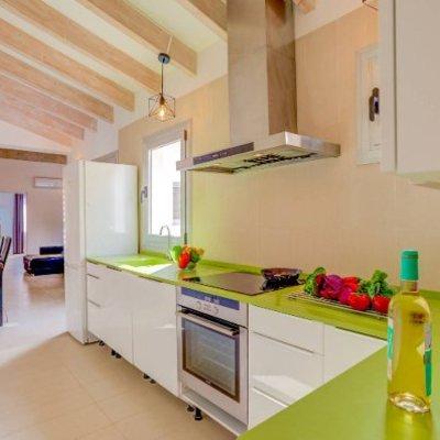Bancadas de cozinha com vidro temperado
