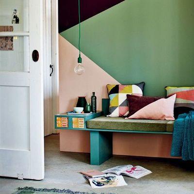 Pintura de apartamento com um padrão