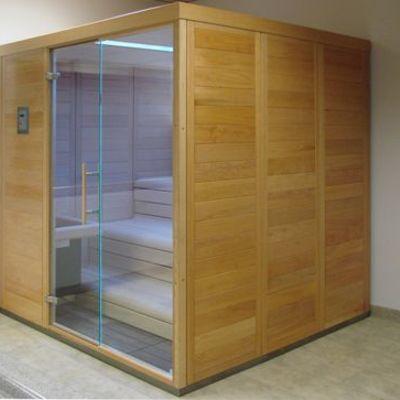 Sauna Interior a vapor