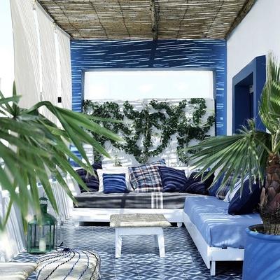 Pintura de interior feita no terraço