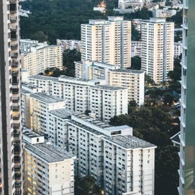 Condomínio residencial em prédio