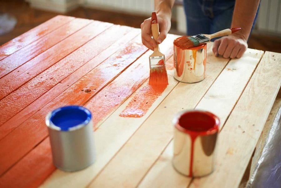 Pintura de portão de madeira