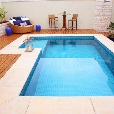 Construção de piscina com vinil