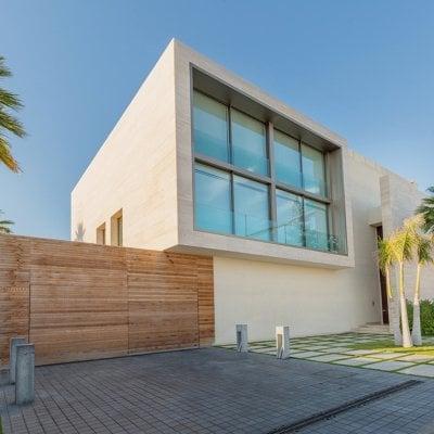 Construção de casa moderna
