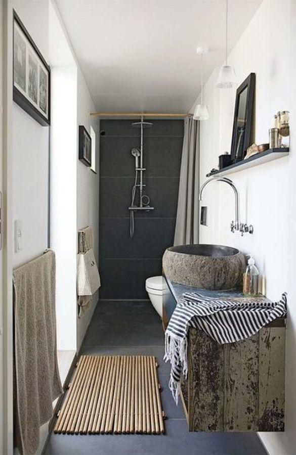 Remodelação casa de banho estilo rústico