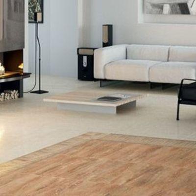 Um tapete de piso flutuante