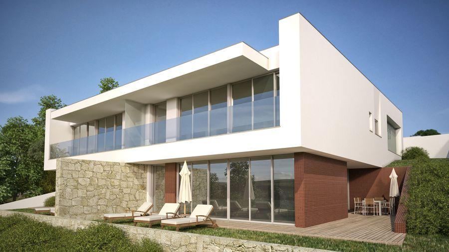 Casas e moradias em vidrio