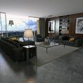 Decoração de sala de estar moderna com fabrico de móveis por medida