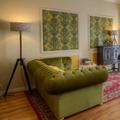 Sofá chesterfield desenhado à medida em veludo verde