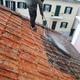 Lavagem de telhado de telhas