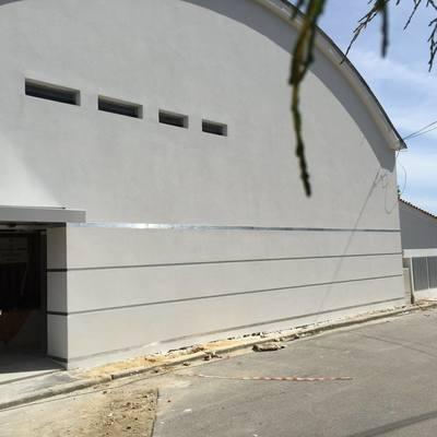 Construção pavilhão industrial