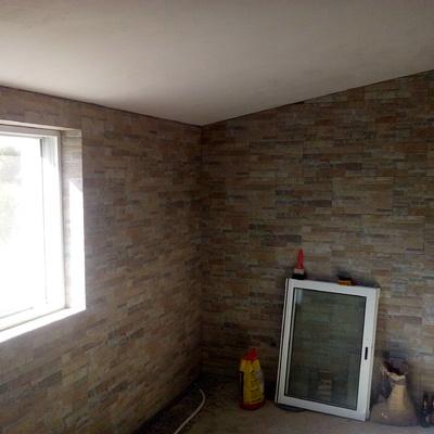 duas paredes no mesmo material