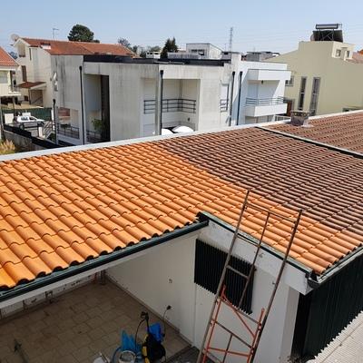 Limpeza de  telhados.