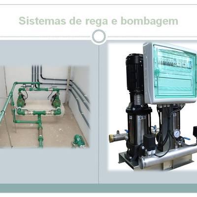 Sistema de rega e bombagem