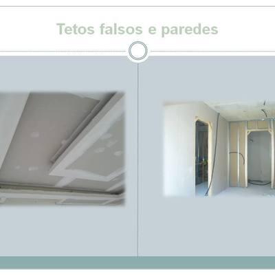 Tetos falsos e paredes
