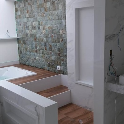 Casa de banho a finalizar