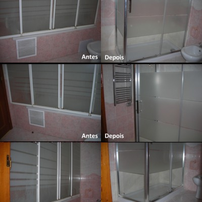 Substituição da banheira por base de duche