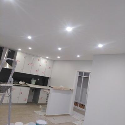 pintura de uma cozinha concluida