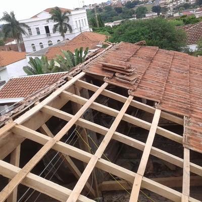 Reparo do telhado