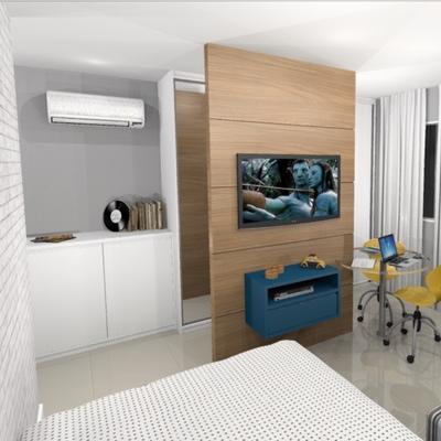 Projeto quarto divisoria para separar ambientes