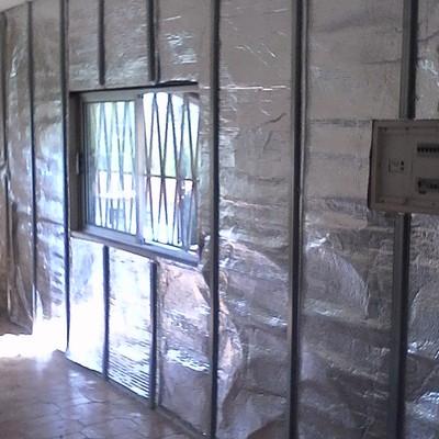 isolamento de prata parede de pladur