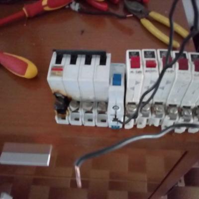 Quadro eléctrico Queimado