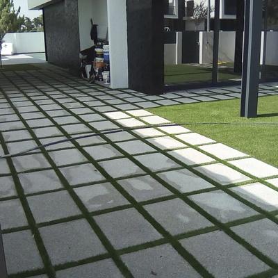 Jardim em relva sintética e oliveira - Brejos de Azeitão