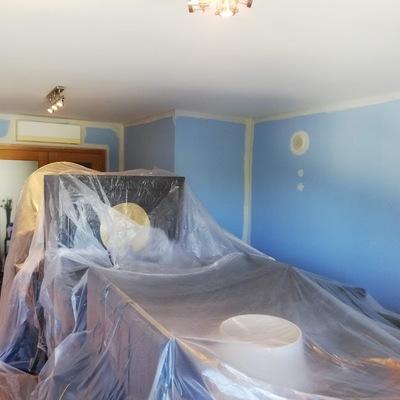 Pintura de sala residencial