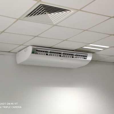 Instalação de consola de tecto