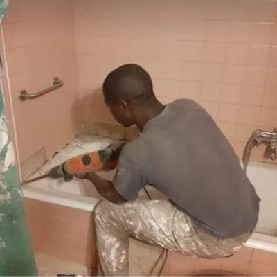 Remoção de banheira