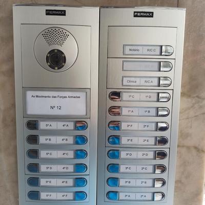 Instalação de sistema de vídeo porteiro / intercomunicador
