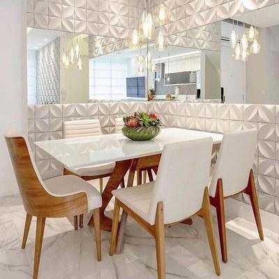 Remodelação de sala de jantar moderna