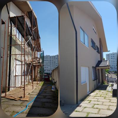 Pintura exterior de habitação