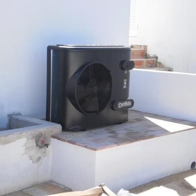Aquecimento de água  por bomba de calor