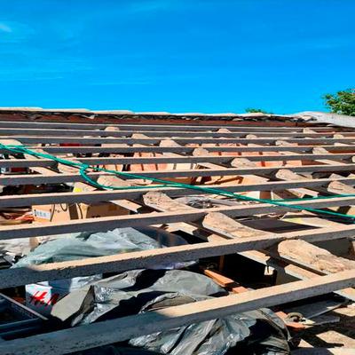 Substituição de telhado - antes