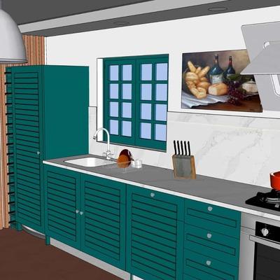 Remodelação de uma cozinha.
