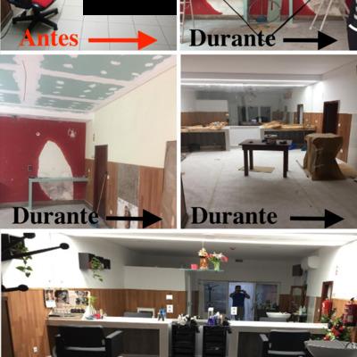 Remodelação: Salão de cabeleireira