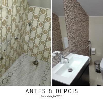 ANTES E DEPOIS WC