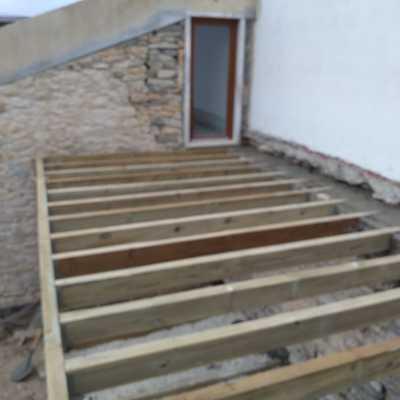 Construção deck dois andares