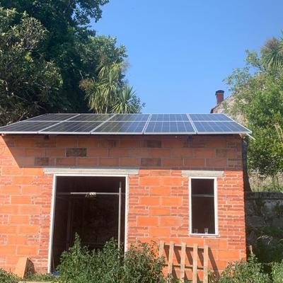 Instalação de painéis solares