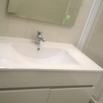 montagem de lavatorio c armario