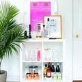 10. Crie um mini-bar, para surpreender as visitas