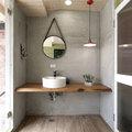 3. Revestir a parede ou o chão da casa de banho com micro-cimento 5m²