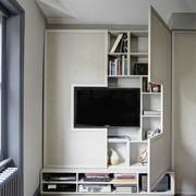 Biblioteca com TV