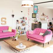 sofás rosas