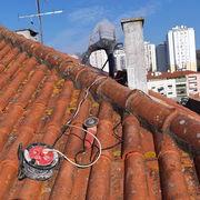 Limpeza e lavagem do telhado