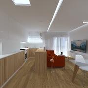 Perspectiva 3 - Vista Cozinha/Sala