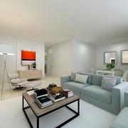 Proposta em desenho 3d render HD Sala comum