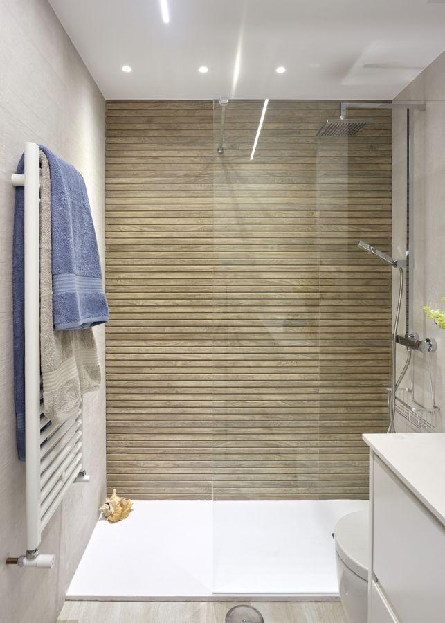 Ripado de madeira Na zona do duche